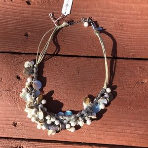 NWT Cookie Lee Shells and Pearls Necklace